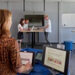 de hybrid active learning classroom op de bolognalaan